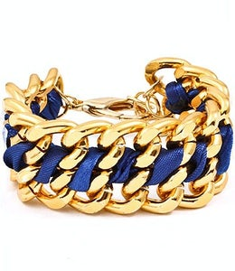 Image of Blue and Gold Bracelet
