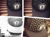 "Image of Brooklyn Nets ""Brownstone"" Custom Studded Snapback by Gabriel Stylez"