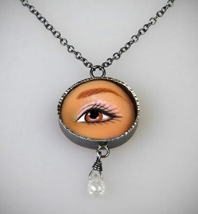 Image of Margaux Lange Brown Eye Necklace