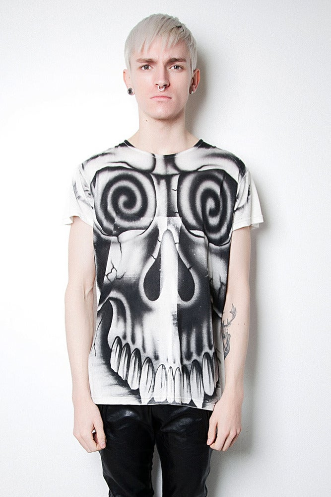 Image of Airbrushed Scull T