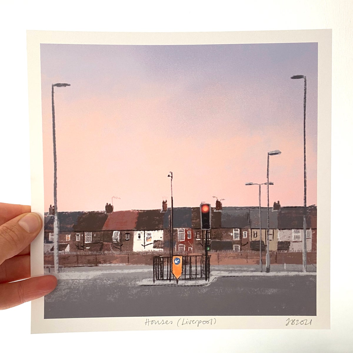 Image of 'Houses (Liverpool)' Archive Quality Print