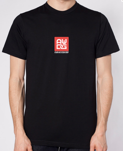 Image of AWDG Tee - Black w/white Logo