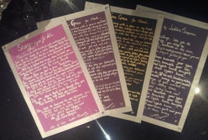 Image of Personalised, Handwritten Lyric Sheets