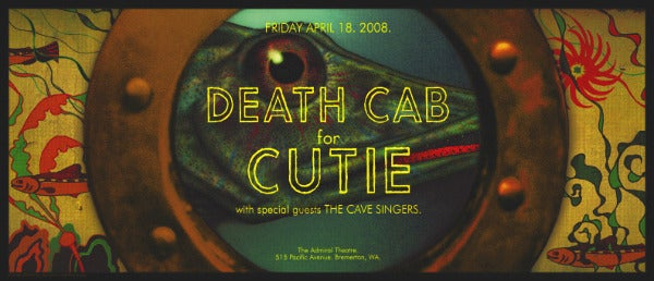 Image of Death Cab For Cutie. Bremerton 2008.
