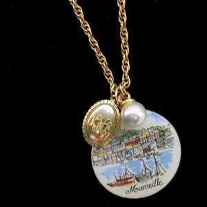 "Image of ""A Day in Marseille"" Rescued Jewelry Necklace"