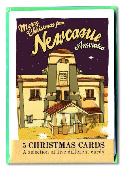 Image of five pack of Newcastle Christmas Cards