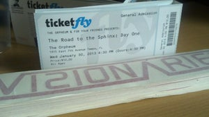 Image of ROAD TO THE SPHINX TIX