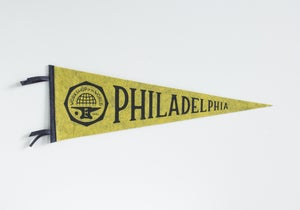 Image of Philadelphia Pennant - Charcoal Ink