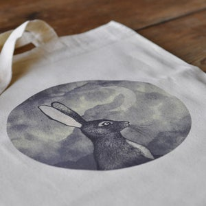 Image of Tote Bag ~ Bunny & The Moon