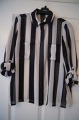 Image of Forever 21 Striped Black & White Shirt