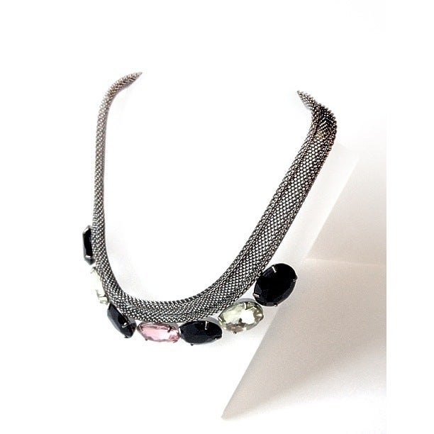 Image of EXCLUSIVE Mesh Jewelled Necklace As Seen On Amy Bangle #Girlfri3nds