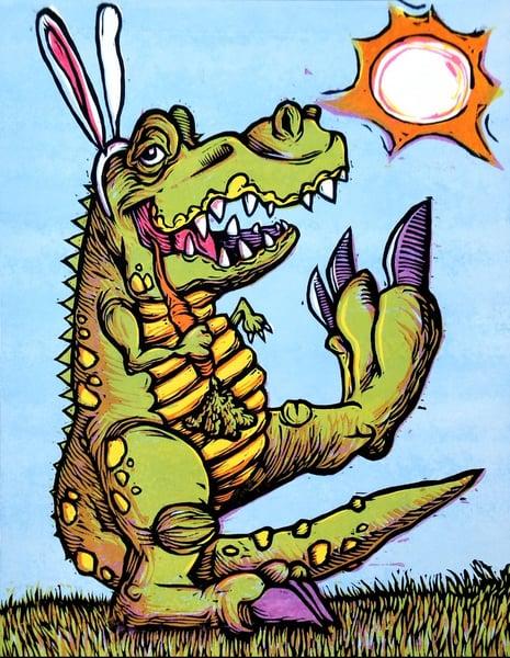 Image of Veggiesaurus Rex Print