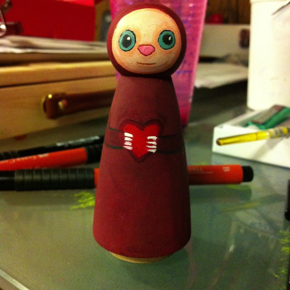 Image of Collectible Wooden Doll - Zizi
