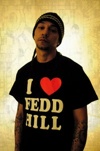 Image of Black I LOVE FEDD HILL tee