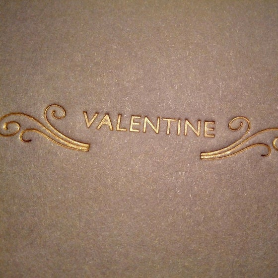 Image of Letterpress Valentine's Card - Brass Gold Ornament