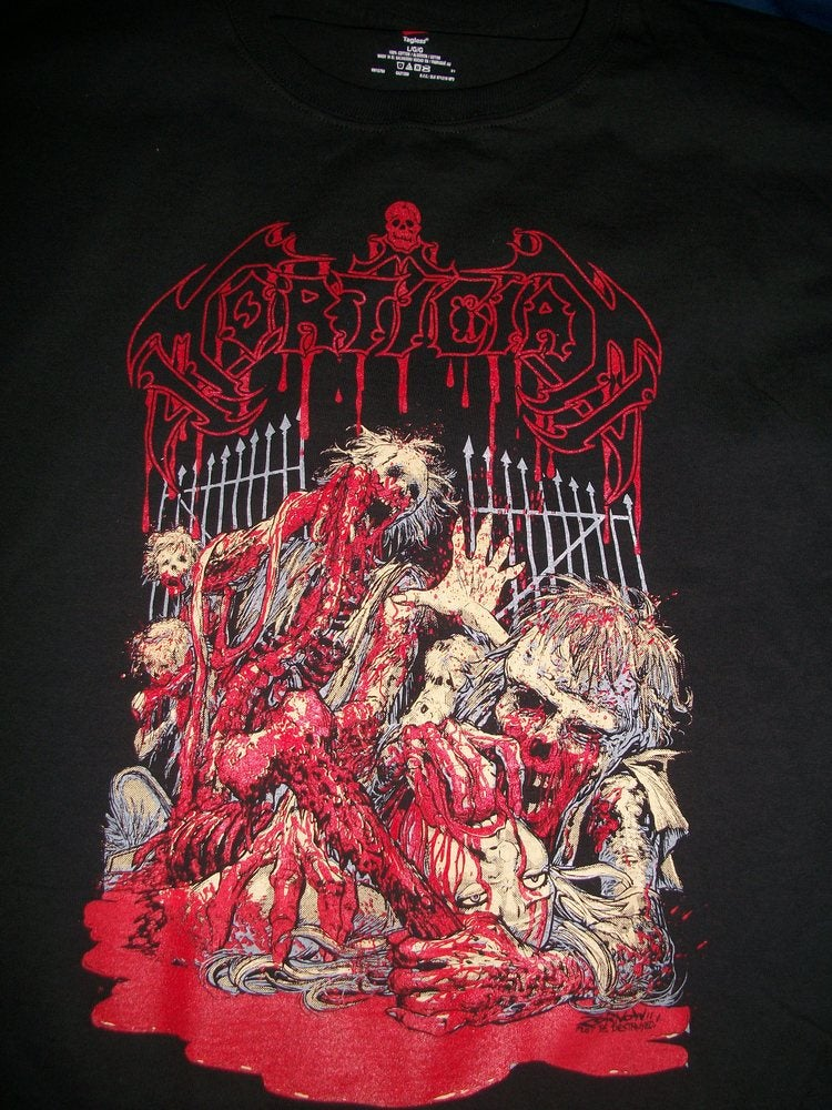 Image of MORTICIAN BLOODCRAVING T SHIRT EXCLUSIVE (PREORDER SHIPS DEC 19TH)