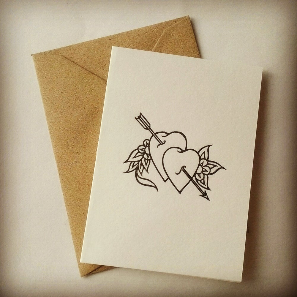 Image of Valentine's Card // Black Heart