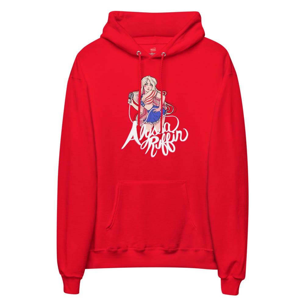 Image of Patriotic Girl Unisex fleece hoodie
