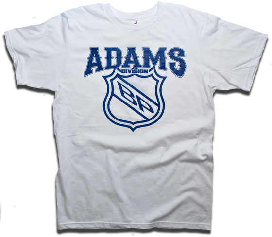 Image of Adams Division - Old Time Hockey Division Series tee by Backpage Press