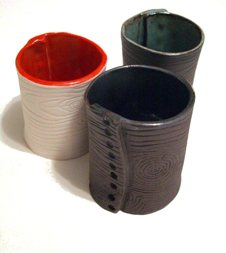 Image of Fois bois mugs/small vase
