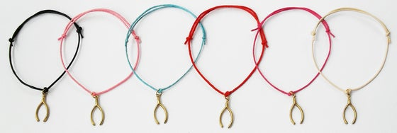 Image of Wishbone Cord Bracelet