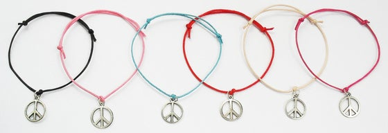 Image of Metaltone peace cord bracelet
