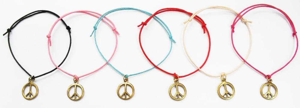 Image of Metaltone peace cord bracelet