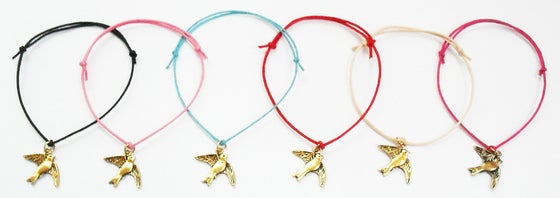 Image of Swallow Birdie Cord Bracelet