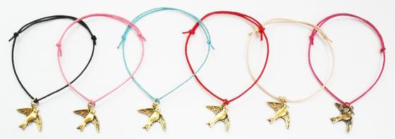 Image of Swallow Birdie Cord Bracelet