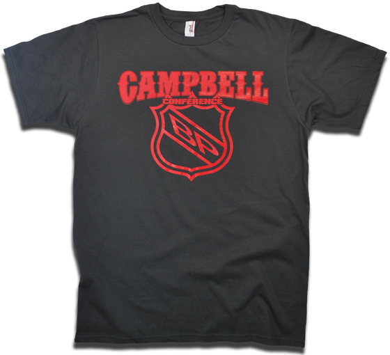 Image of Clarence Campbell Conference - Old Time Hockey Conference Series tee by Backpage Press