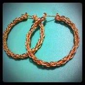 Image of Dookie Rope Chain Hoop Earrings