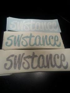 Image of SWStance script logo decal