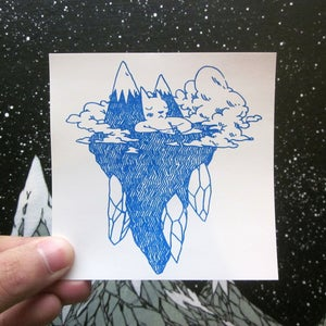 Image of  Floating Island Cat Sticker
