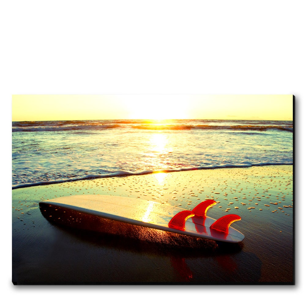 Image of SUNSET THRUSTER - (Metal or Canvas)