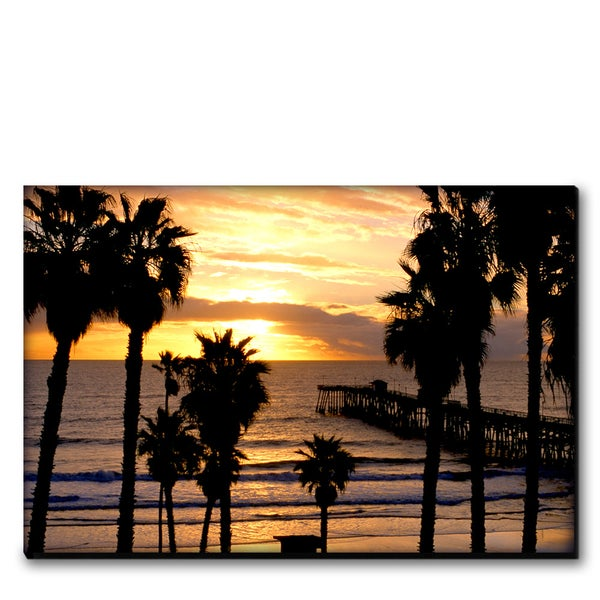 Image of SAN CLEMETE SUNSET - (Metal or Canvas)
