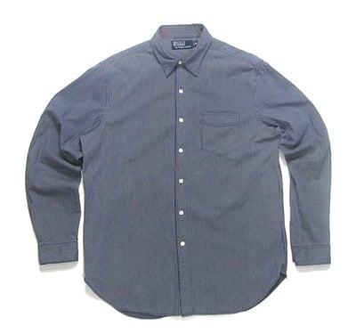 Image of Polo Ralph Lauren Striped L/S Denim Work Shirt
