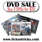 Image of Licks N Tricks DVD SALE 3 for $20