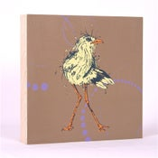 Image of Light Brown with Shore Bird 7 x 7