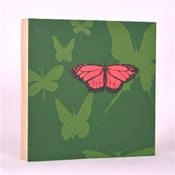 Image of Forest Green with Butterflies 7 x 7