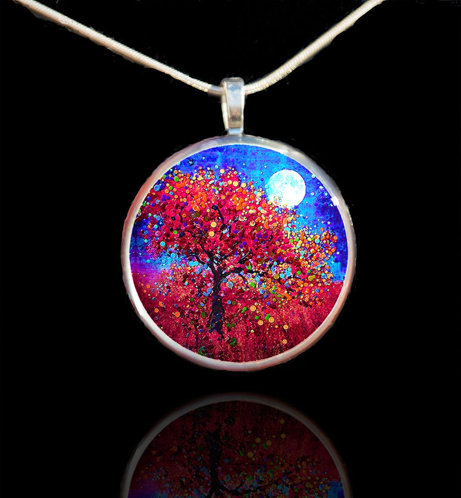 Image of Harvest Moon - Abundance Blessing Pendant