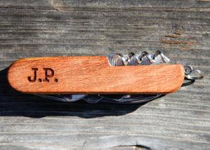 """Image of Personalized 3.5"""" Wood Pocketknife"""