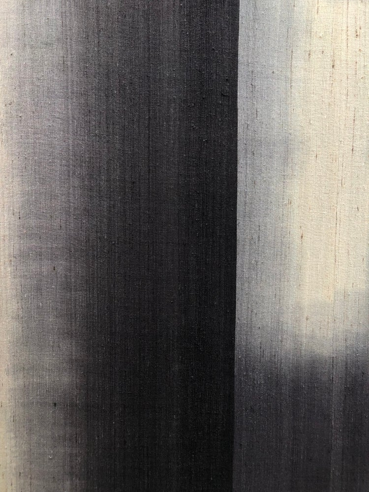 Image of dip dyed silk abstract