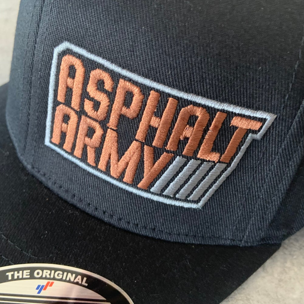 Image of FlexFit Hat Black with Copper/Charcoal