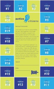 Image of Active Citizen Pledge Card