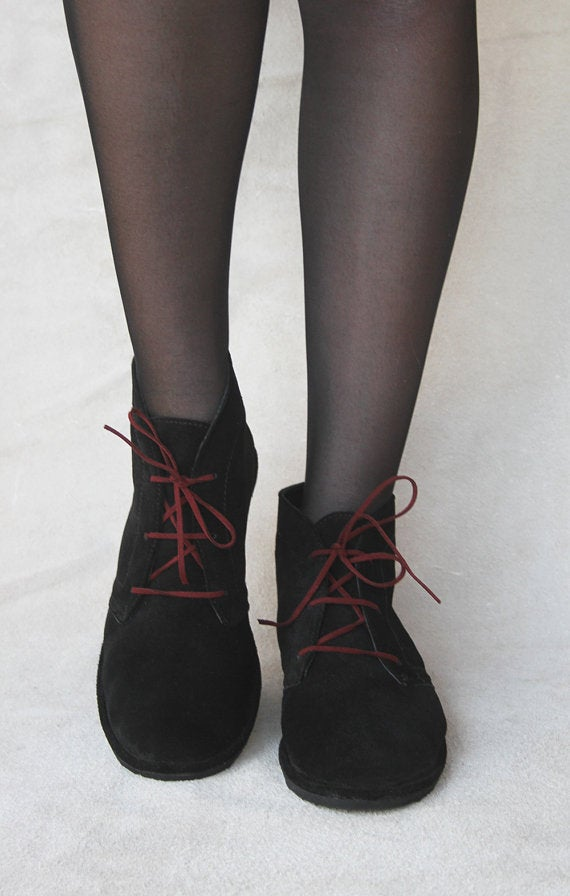 Image of Leona boots in Black Suede