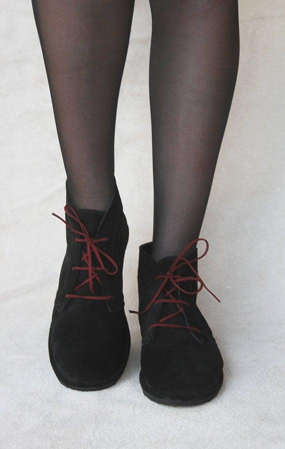 Image of Desert boots - Leona in Black Suede