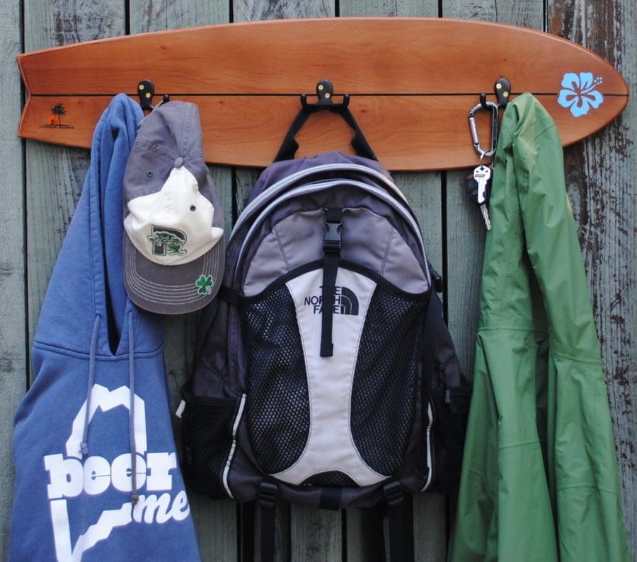 Image of 3 Hook Wall Rack Board