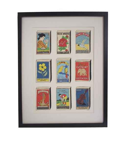 Image of  Limited Edition Hand Decorated Matchbox Print