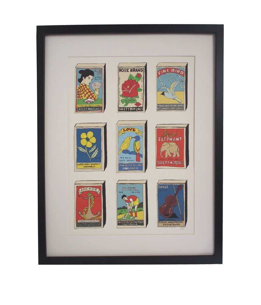 Limited Edition Hand Decorated Matchbox Print