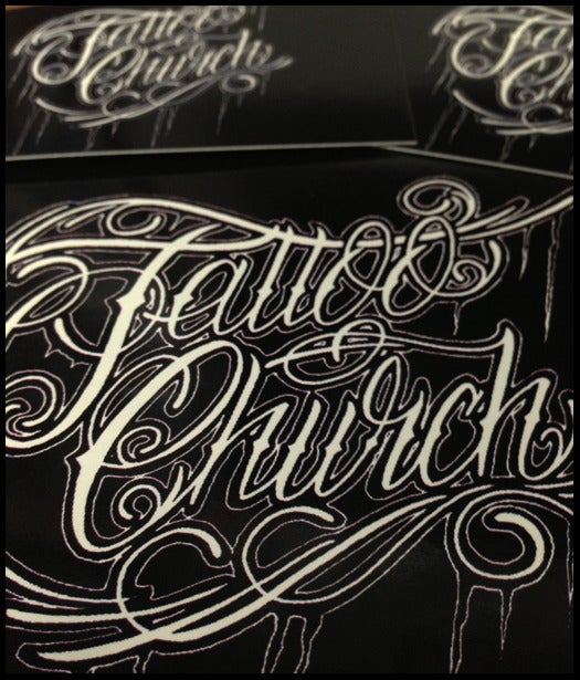 Image of Tattoo Church Sticker